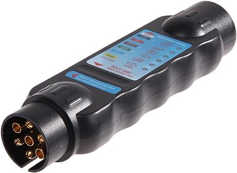 ttnight 7-Pin Trailer Plug 12V Car Plug 7 Way Blade Round Connector Traile Truck Sockets Automotive Parts