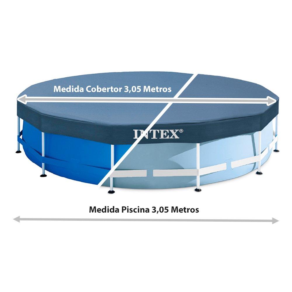 Intex - Cobertor piscina metálica metal & prisma frame 305 cm (28030 ...