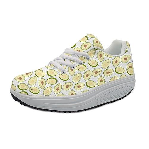 c7edae15f3361 Amazon.com | Bigcardesigns Wedge Sneakers Women Ladies Workout ...