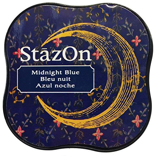 Tsukineko StazOn Midi Ink Pad, Midnight Blue