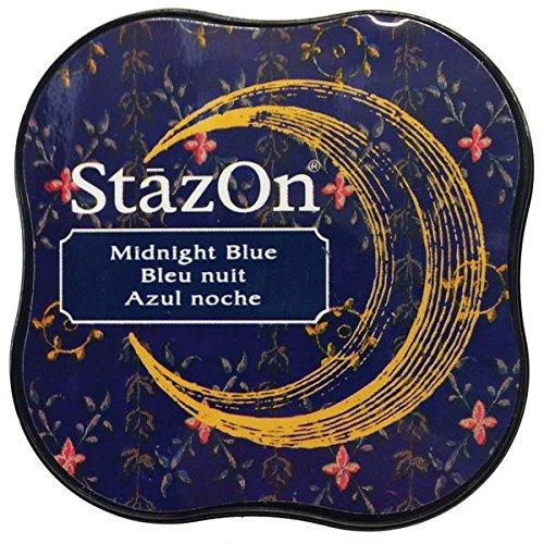 (Tsukineko StazOn Midi Ink Pad, Midnight Blue)