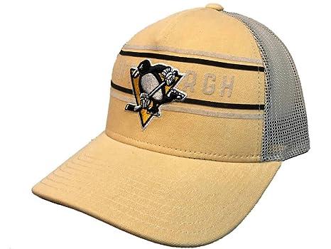 Amazon.com   adidas Pittsburgh Penguins Yellow CCM Vintage Mesh ... 92686442bfd