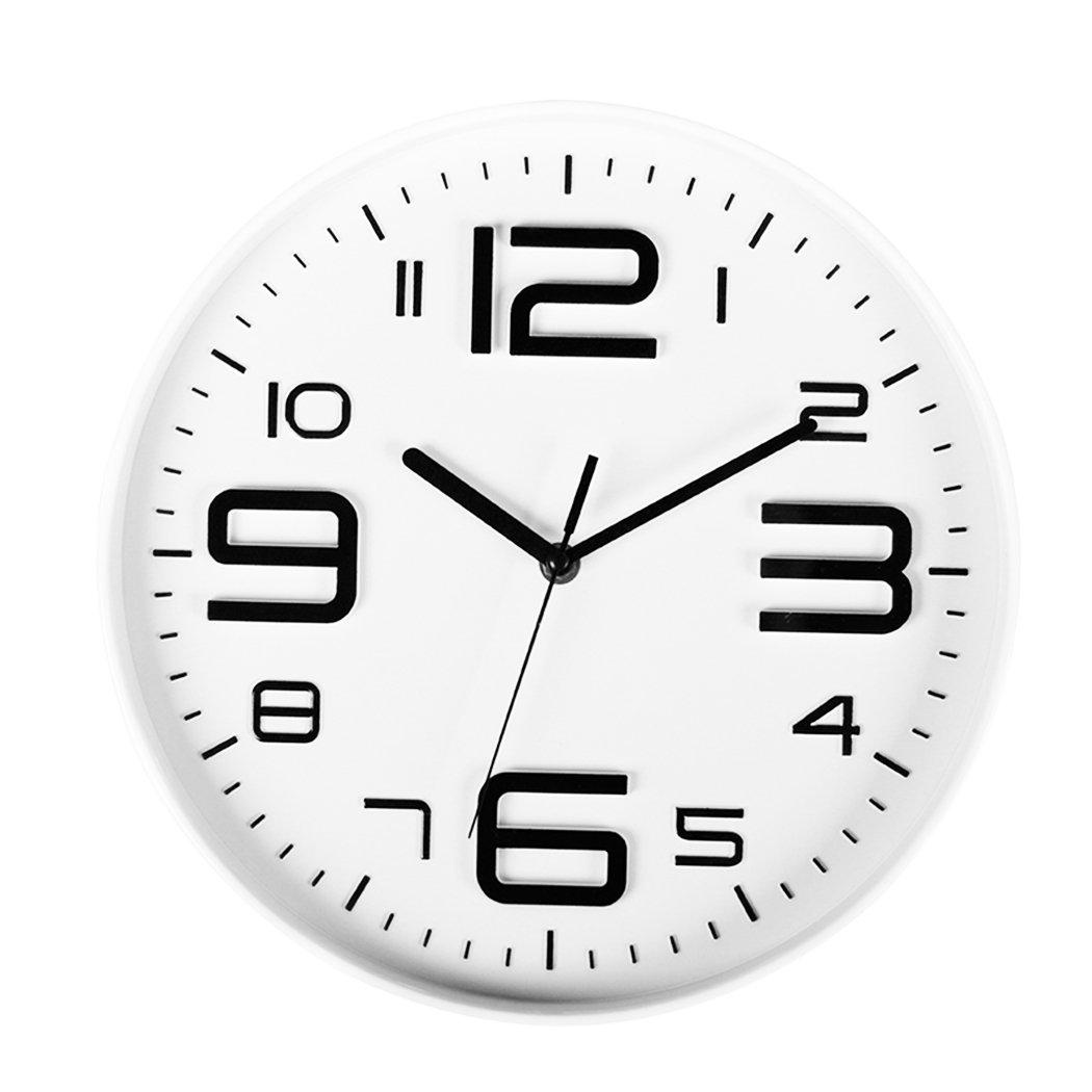 10 Indoor Big 3d Number Silent Non Ticking Wall Clock Quartz Sweep
