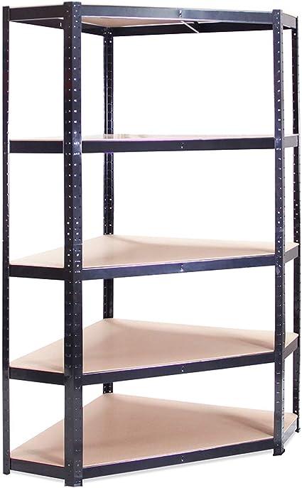 180x90x90x30 Black Corner Shelf Amazon Co Uk Diy Tools
