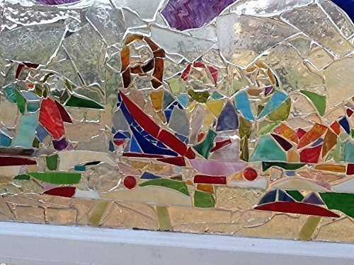 Stained Glass Christian Window Art Sun Catcher, The Last Supper, Jesus Art