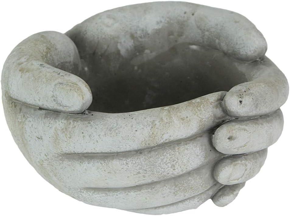 Distinctive Designs 7 Inch Helping Hands Indoor/Outdoor Concrete Plant Pot Planter
