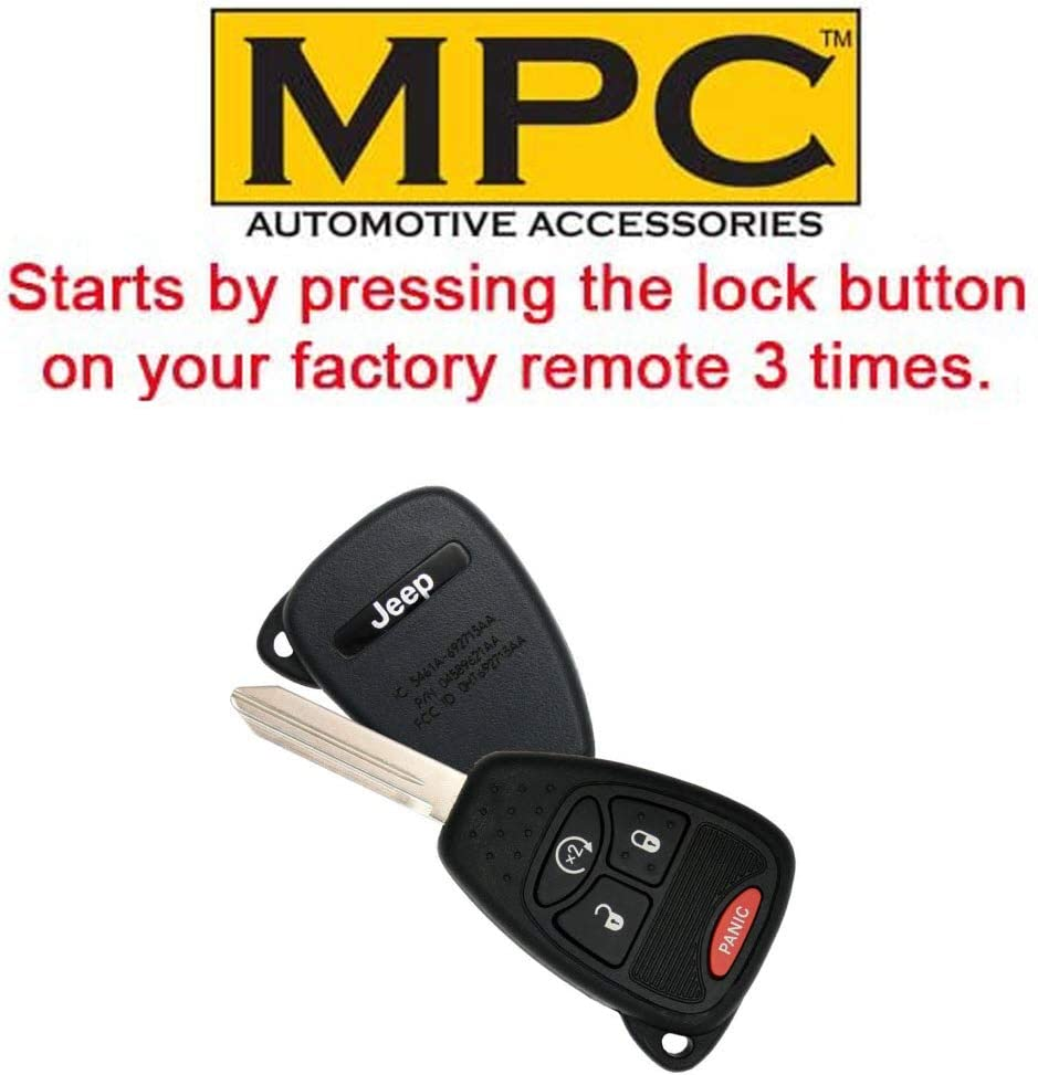 Firmware Preloaded MPC Factory OEM Remote Activated Plug and Play Remote Start Kit for Jeep Wrangler 2007-2018