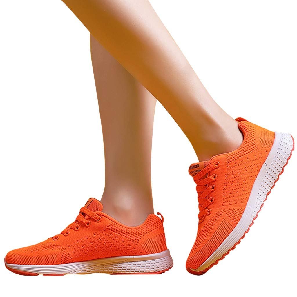 Womens Sports Running Shoes Summer Slip On Lace Up Shoes Sneakers Shoes Student Running Shoes by Gyouanime