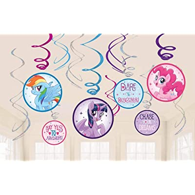 My Little Pony Friendship Adventures™ Value Pack Foil & Iridescent Swirl Decorations: Toys & Games