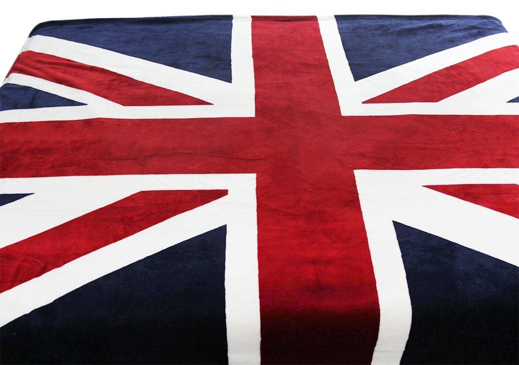 Franela Luxus – Manta Manta Colcha Cama blankets con bandera inglesa aufdruck para mujer hombre Niños Dormitorio sofá Auto en todas las estaciones 200 ...