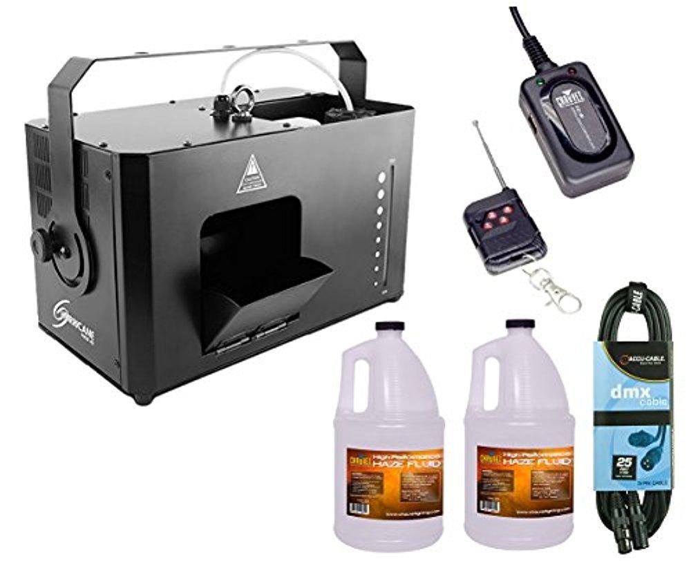 Chauvet Hurricane Haze 4D Hazer Machine + 2x Fluid Gallon + FC-W + DMX Cable by CHAUVET DJ