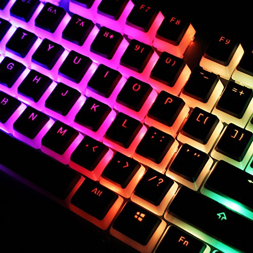 SENREAL New 104 Key PBT OEM Profile Double-Skin Milk Pudding Keycap Translucent Key Caps for Mechanical Keyboard … (Pudding Keycaps)