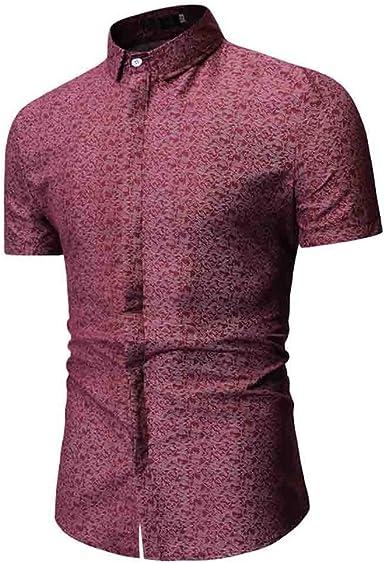 TUDUZ Camisetas Hombre Manga Corta Camisa con ...