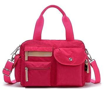 049f5c0748 Amazon.com  Women s Lightweight Nylon Crossbody Purse Casual Shoulder  Travel Bags Water-resistant Cross Body Messenger Bags for Women (Hot Pink)   Bagtopia