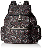 LeSportsac Women's 3 Zip Voyager, Composition Black