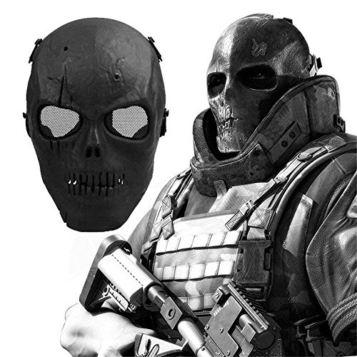 Skull Protective Mask for Paintball and Cycling | MTB Road Bike Riding Bicycle Accessories Cool Zombie Face Crash and Pellet Proof Mask Airsoft/BB Gun/CS Game Hunting or Other Outdoor Activities by Roots