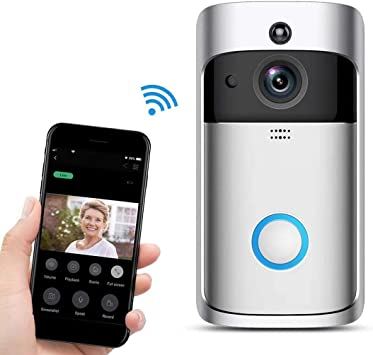 Wifi Video Doorbell,Videoportero con Video 720p HD, Detecciòn de ...