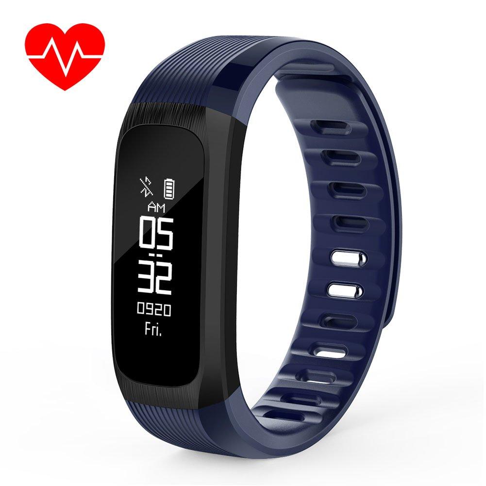 Waterproof USB Charging Heart Rate Monitor Wireless Smart Wristband Bracelet Blood Pressure Monitor Sleep Activity Health Tracker Cycling Sports Wristband Gift Ornament