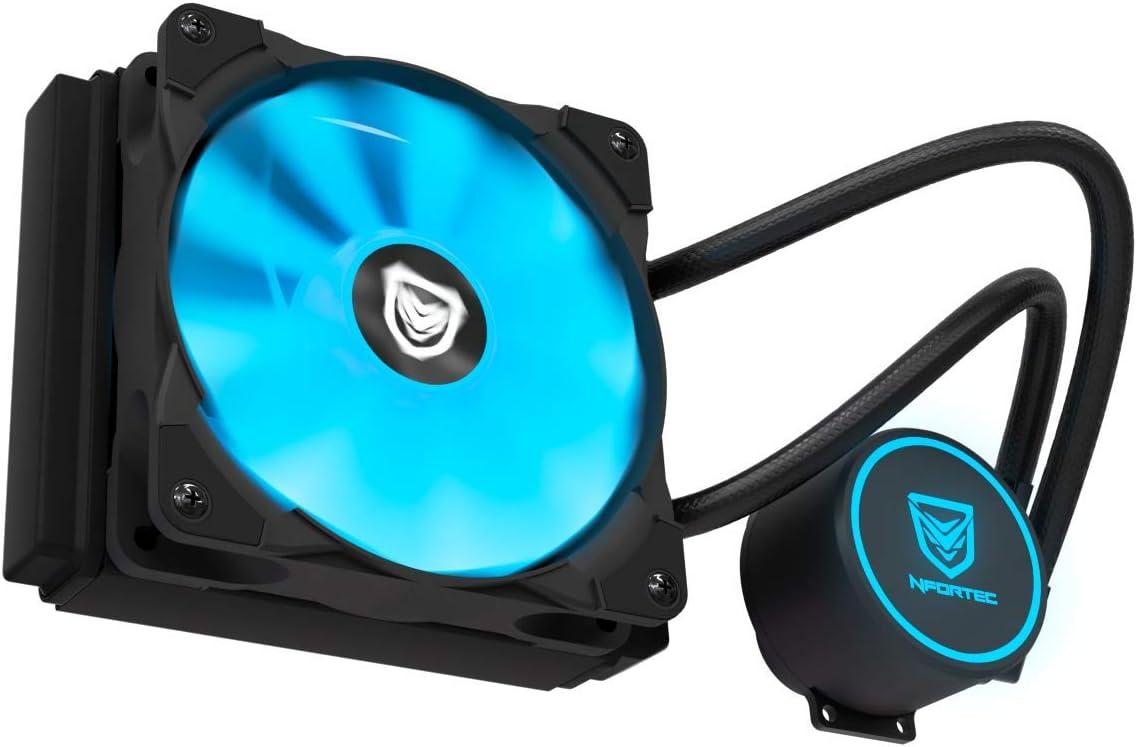Nfortec Hydrus V2 Refrigeración Líquida 1200mm con Ventilador LED Blue de 120mm (Compatible con AMD e Intel) - Color Azul: Amazon.es: Informática
