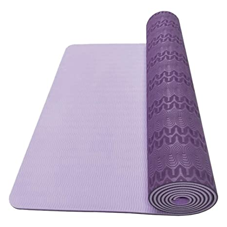 Amazon.com: Fenfangxilas Yoga Mat, Eco-Friendly Thicken Anti ...