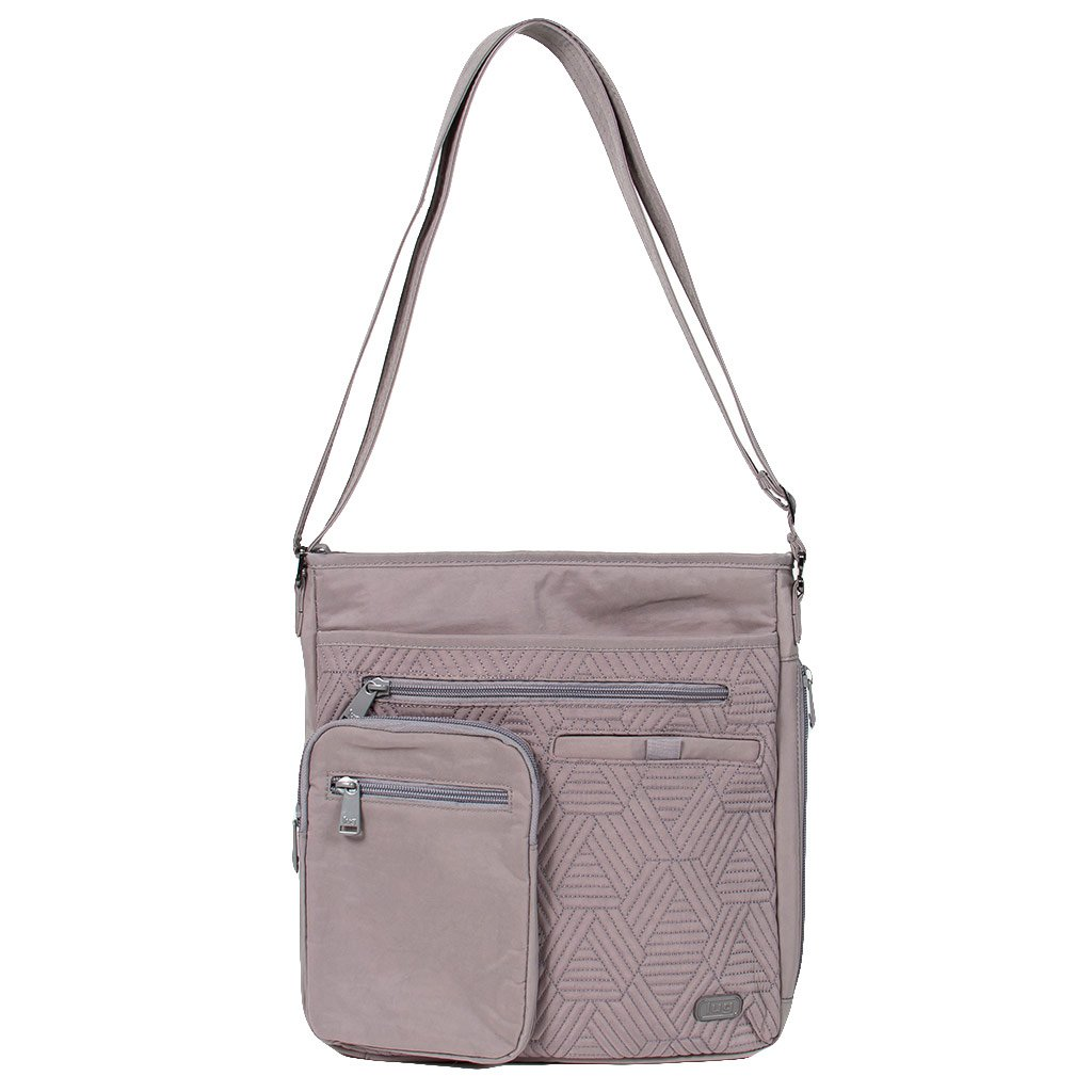 Lug Women's Monorail Convertible Rfid Crossbody Shoulder Bag, Pearl Grey, One Size Lug Parent Code MONORAIL-PEARL GREY