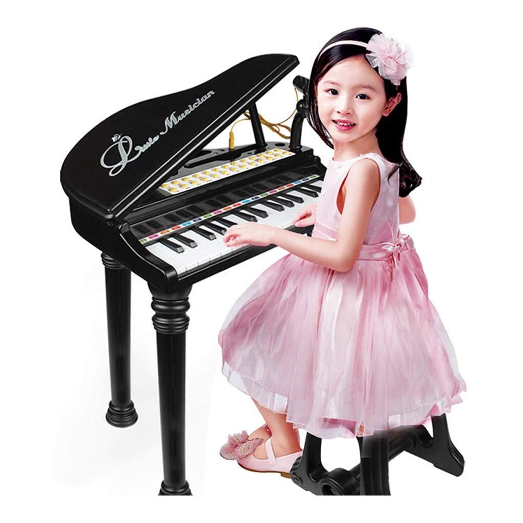 最新入荷 ベストチョイス 子供のキーボード玩具の女の子小さなピアノとマイク多機能ピアノ楽器幼児教育パズル ベストチョイス ( Color 黒 : 黒 : )B07GCWPGTB, バレエ用品フロリナ:6a3c6d0c --- a0267596.xsph.ru