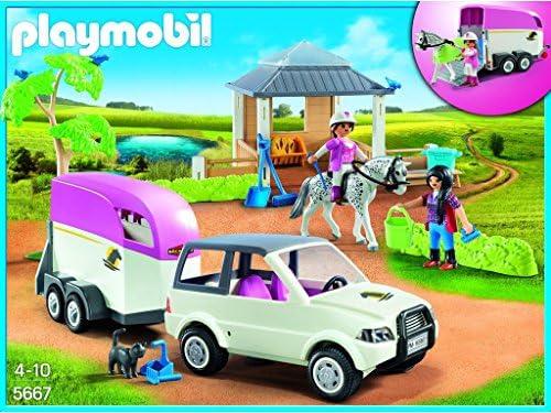Playmobil 5667.0reitstall avec Chevaux Transporter Jouet