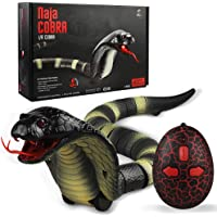 PWTAO Remote Control Snake Realistic Snake Toys Fake Snakes RC Animal Toy with High Frequency Infrared Receiver Electric…