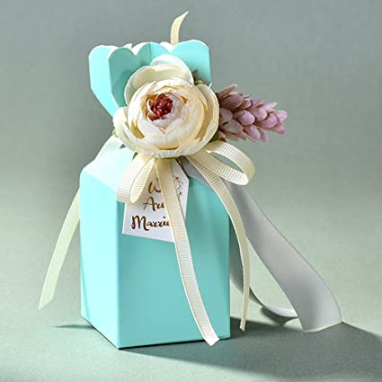 Amazon Moleya Pack Of 20 Pcs Diy Wedding Favors Candy Boxes