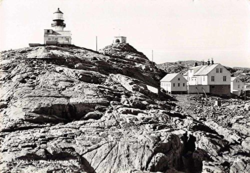 Lighthouse Photo Postcard (Lindesnes Norge Norway Lighthouse Scenic Real Photo Antique Postcard J73848)