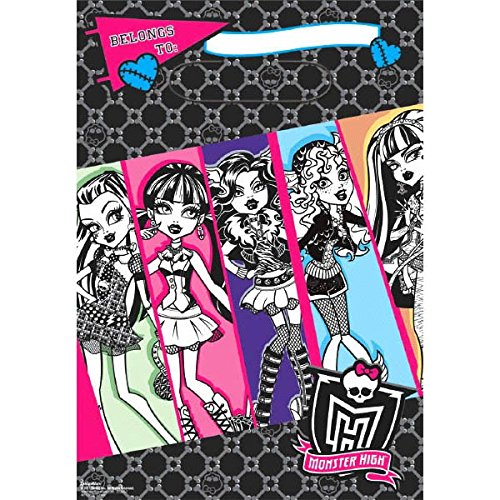 Folded Loot Bags | Monster High Collection | Party Accessory -