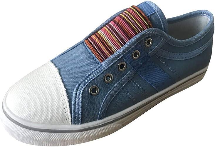 Longzjhd Femmes Chaussures DéContractéEs à Bout Rond Baskets