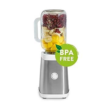 Máquina para preparar smoothies 350W, Mason Jar, mini batidora de acero/Licuadora en