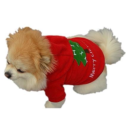 BBsmile Ropa Perro pequeño Invierno Perro Cachorro Mascota Traje de Papá Noel Ropa Outwear Ropa de