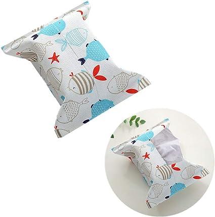 qishengshengwukeji Tissue Box taschentuchbox Taschentuchboxen Taschentuchbox bedeckt Rechteck Taschentuchhalter f/ür zu Hause W/ürfel Tissue Box Halter 1