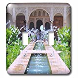 3dRose LLC 3dRose LLC lsp_112956_2 Water Fountains at Alhambra palace gardens in Grenada Spain - Islamic Turkish Muslim fretwork arches - Double Toggle Switch