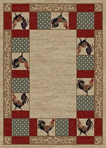Funky Rooster Area Rugs For Good Luck When A Little Push
