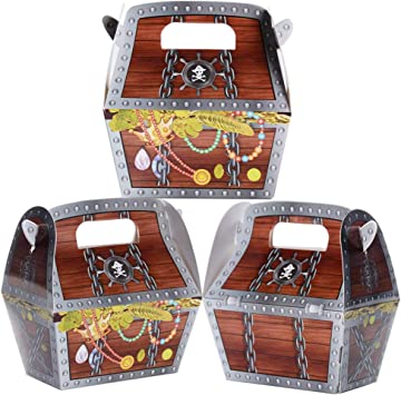 MEJOSER 30pcs 8 x 4 x 10,5cm Cajas de Cartón Cajas Piratas Caramelos Regalos Decoración Fiesta Cumpleaños: Amazon.es: Juguetes y juegos