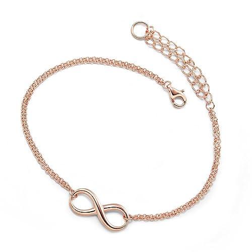 925er Silber Infinity Unendlichkeit Damen Armband