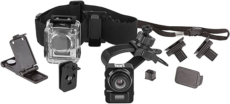 Navitech 30-in-1 Action Camera Accessories Combo Kit with EVA Case Compatible with The Vivitar DVR 936HD LifeCam Air Air Vivitar DVR798HD LifeCam