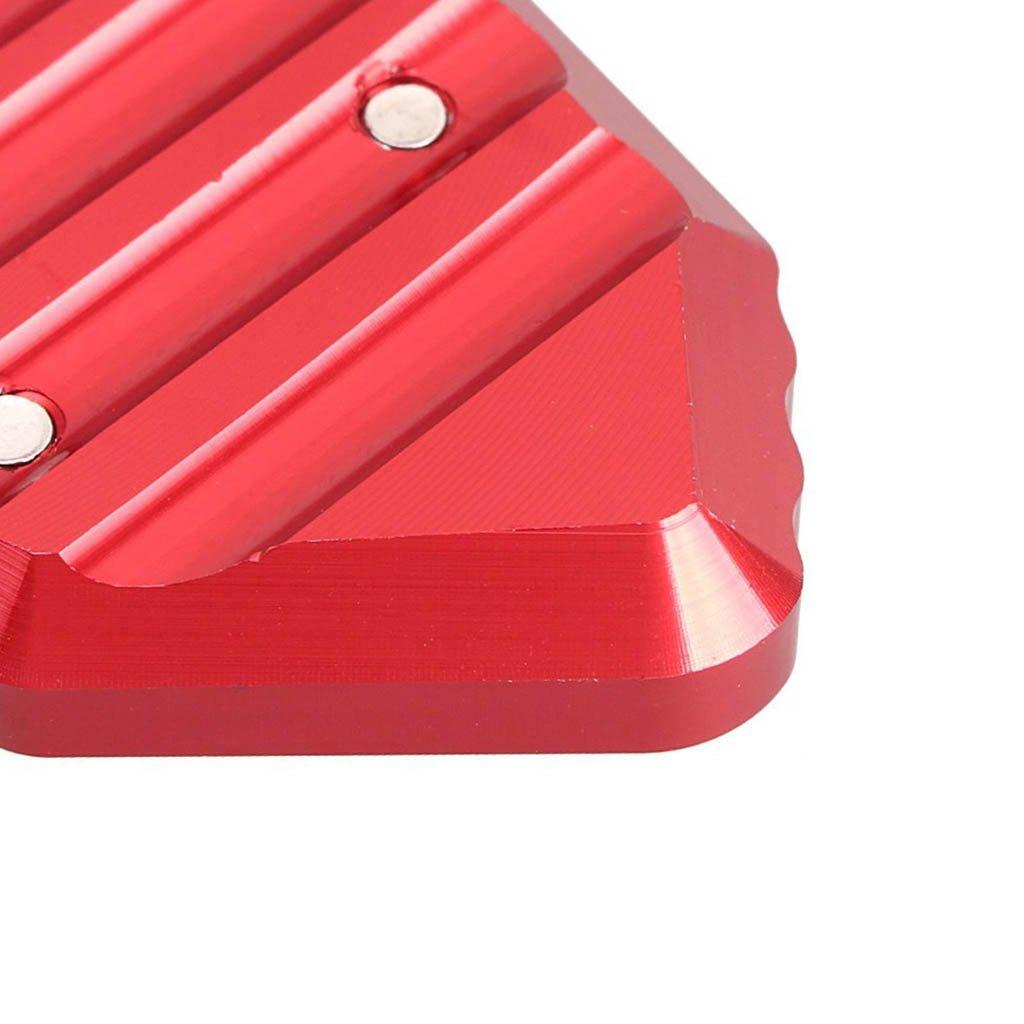 Noir Moto support Lat/éral Side stand Extender Plaque Pad Pied Support Lat/éral Pad Pour K1200S//K1200R 2005-2008 K1300S//K1300R 2009-2014
