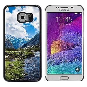Caucho caso de Shell duro de la cubierta de accesorios de protección BY RAYDREAMMM - Samsung Galaxy S6 EDGE - Paisaje de la nieve de la montaña