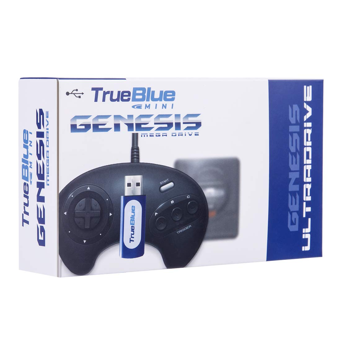 Petforu True Blue Mini Ultradrive Pack 813 Games for Sega Genesis /Mega Drive Mini
