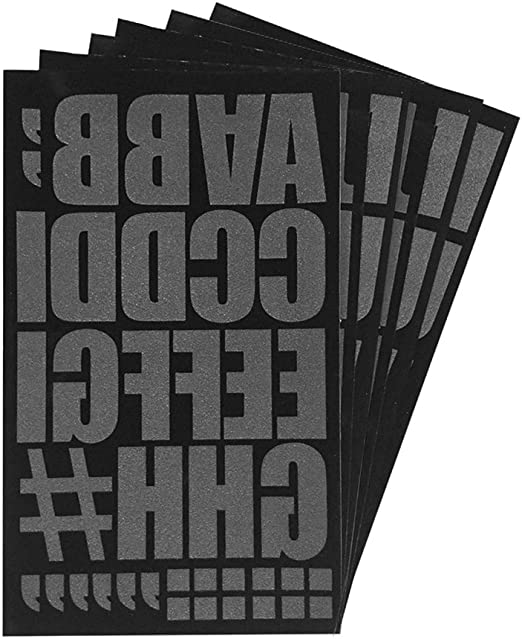 Magfok Iron on number 5 Inch Transfer for Clothing Black 6 Sheet