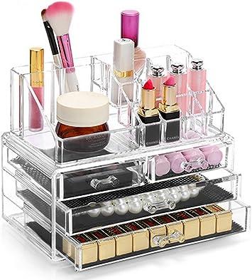 Display4top Organisateur Maquillage Acrylique Boite A Bijoux Transparent Rangement De Maquillage Pinceaux 4 Tiers Tiroirs Clear Amazon Fr Beaute Et Parfum