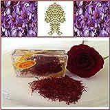 Premium Quality La Mancha Spanish Saffron. Rose Red. 1gm. 200+ Grade.