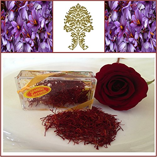 ancha Spanish Saffron. Rose Red. 1gm. 200+ Grade. by GaneshaSpice (200 Red Roses)