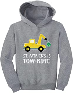 Tstars - St. Patrick's Day Gift Clover Tractor Toddler Hoodie