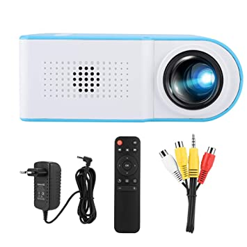 Caredy Proyector, Full HD 1080P 4: 3 16: 9 Mini proyector de ...