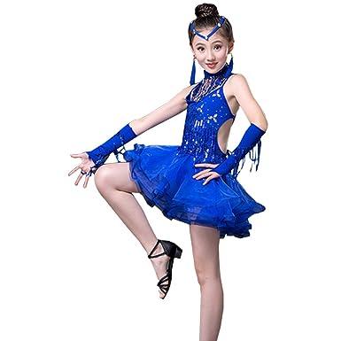 KINDOYO Trajes de Baile Latino niñas Competencia Trajes de Baile ...